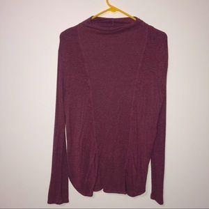 Lou & grey burgundy long sleeve cowl neck top Lrg